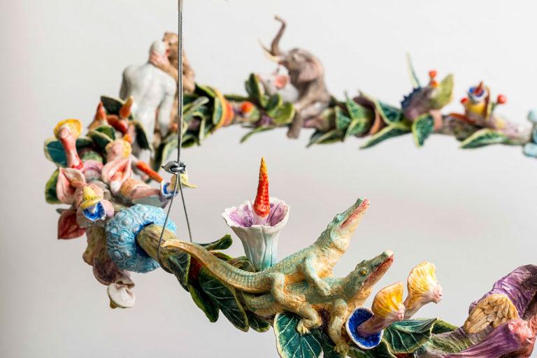 Simone Bertugno, Sex Odissey, 2016, Ceramica policroma, cm 100x100